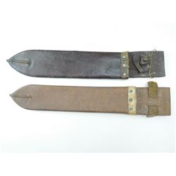 LEATHER WWII ERA SCABBARDS