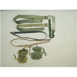 ASSORTED BELTS, SLINGS & POUCHES