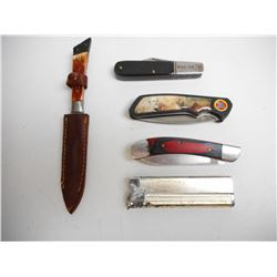 ASSORTED KNIVES & REFILLABLE LIGHTER