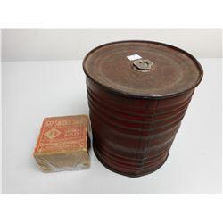 ANTIQUE AMMO BOX & POWDER CAN