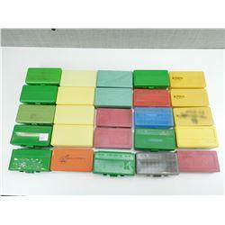 ASSORTED PLASTIC AMMO CASES