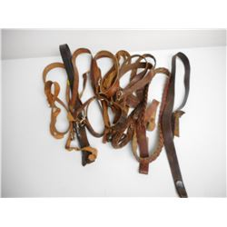 ASSORTED LEATHER STRAPS