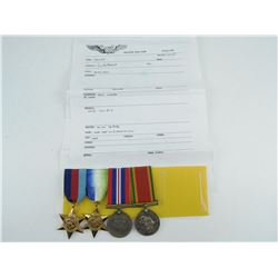 WWII GROUP OF 4 MEDALS