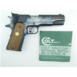 COLT , MODEL: SERIES 70 GOLD CUP MKIV , CALIBER: 45 ACP