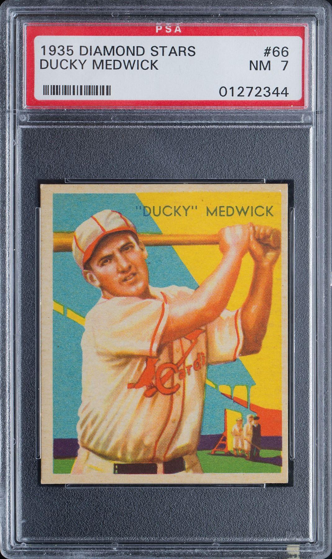 1935 Diamond Stars 66 Ducky Medwick Psa Nm 7