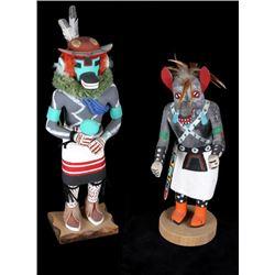 Hopi Hand Carved Kachina Dolls (2)