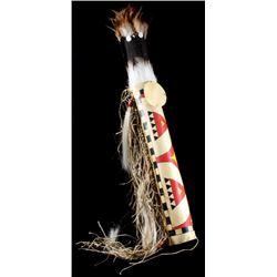 Blackfoot Parfleche Headdress Case & Headdress