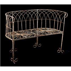 Victorian-Style Wire Garden Bench