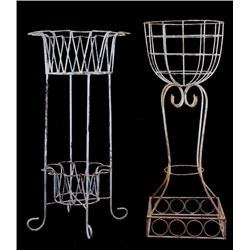Victorian-Style Wire Plant Stands (2)
