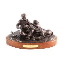 G.C. Wentworth Anticipation Bronze Sculpture