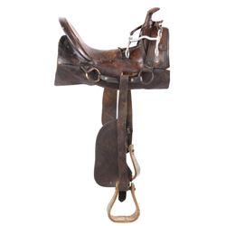 "John S. Collins ""Mother Hubbard"" Saddle c1860-70's"