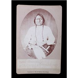 Original 1882 Sitting Bull Cabinet Photograph