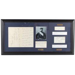 US Civil War General's Signatures Framed RARE