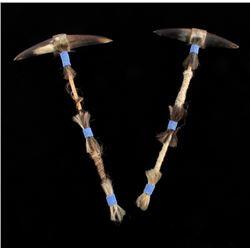 Plains Native American Buffalo Horn Dance Wands