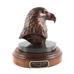 Original Connie Tveten Eagle Bronze Sculpture