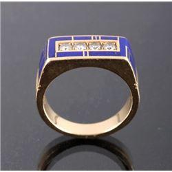 Ray Tracey Navajo 14K Gold .85ct. Diamond Ring
