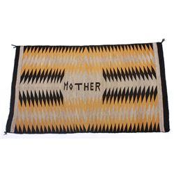 Unusual Navajo Chinle Pattern Wool Rug