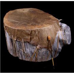 Chippewa Indian Rawhide Drum Large