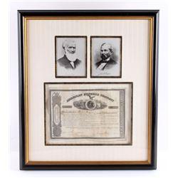 Henry Wells & James Fargo Signed Stock Certificate