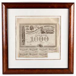 1863 Confederate State of America Bond Certificate