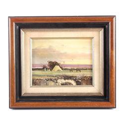 Original Thomas deDecker Oil on Board Painting