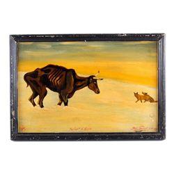 Original Bill Gebhart Painting After Russell