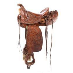 Keyston Bros. Tooled Saddle circa 1910