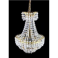 Swarovski Crystal and Brass Chandelier