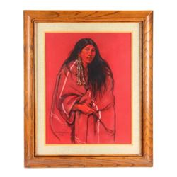 Original Nancy McLaughlin Pastel Portrait