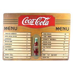 Vintage Coca-Cola Wooden Menu Board c. 1930's