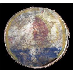 Sioux Indian Painted Parfleche Drum
