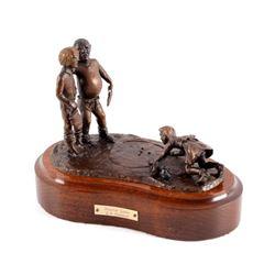 Original Wentworth Bronze Marble Game Sculpture