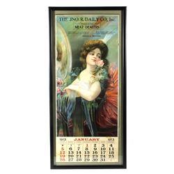 JNO. R. Daily Co., Montana Gal Calendar 1913 RARE