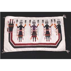 Navajo Yei Pictorial Rug Fine Wool c. Early 1900's