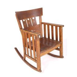 Early Original Mission Oak Rocking Chair