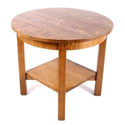 Ridenour Furniture Quarter Sawn Oak Center Table