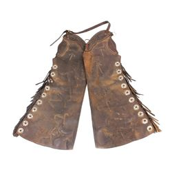 Montana Ranch Branded Chaps w/ Conchos 1800-1900
