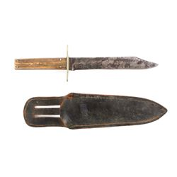 Antique Case Brothers Stag Horn Gambler's Knife