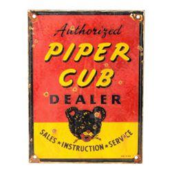 Piper Cub Dealer Porcelain Enamel Sign