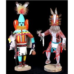 Hopi Hand Carved Signed Kachina Dolls (2)