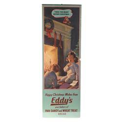 Eddy's Bread Christmas Promo Advertisement RARE