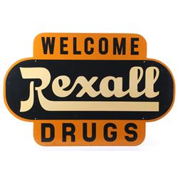 Rexall Drugs Masonite Welcome Sign