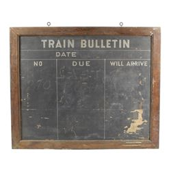 Antique Train Station Bulletin Chalk Board
