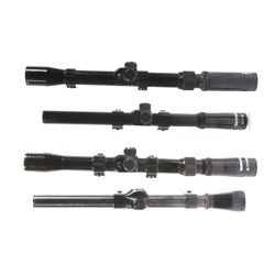 Four Rifle Scopes- Bushnell, Tasco & Weaver