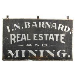 T. N. Barnard Real Estate & Mining Sign, N. Idaho