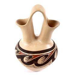 Jemez Pueblo Mini Polychrome Wedding Vase Signed