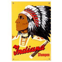 Indian - Stumpen Swiss Cigar Porcelain Enamel Sign