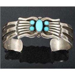 R. Martinez Navajo Sterling & Turquoise Bracelet