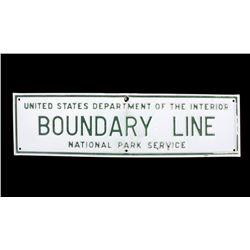 Yosemite National Park Service Boundary Line Sign
