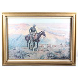 "Charles Russell ""The Wagon Boss"" Framed Print"